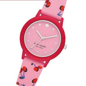 Kate Spade Morningside Cherry print silicone watch